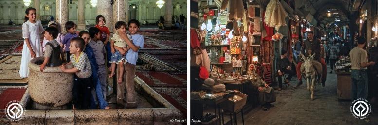 SY566136 Syyria Lapset Damaskoksen Umajjadin moskeijassa
