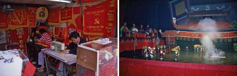 VN216821 Vietnam Punalippuompelimo Hanoissa