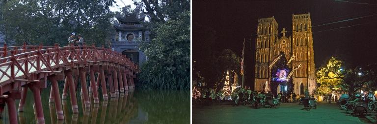 VN216904 Vietnam Hanoin Huc-silta ja Ngoc Son-temppeli
