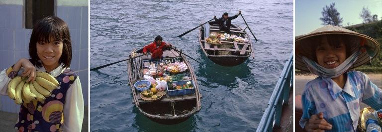 VN217301 Vietnam Banaanityttö Phà Rừngin satamassa Pohjois-V