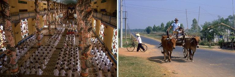 VN219912 Vietnam Caodaismin päätemppeli Tay Ninhissa Etelä-Vi