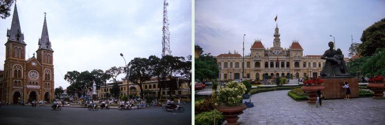 VN220605 Vietnam HCM Saigonin Notre Dame-katedraali ja pääpost