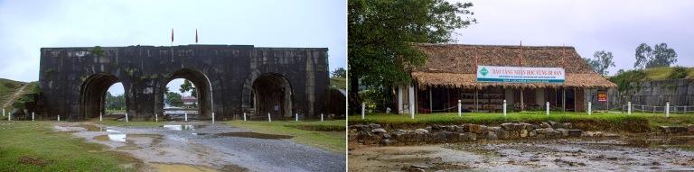 VN_160127 Vietnam_0276 Ho-dynastian linnoitrus+VN_160227 Vietnam_0269 Perinteinen pitkätalo Ho-dynastian linnoituksewlla Thanh Hóain provinssissa  Pohjois-Vietnamissa