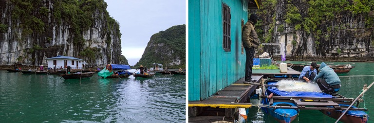 VN_160201 Vietnam_0029 Kelluva kalastajakylä Halonginlahdella