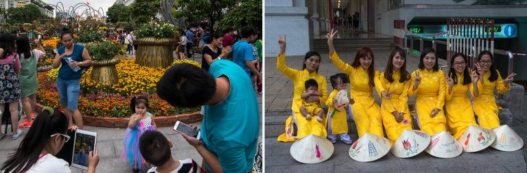 VN_160206 Vietnam_0203 Kuvausta HCMC Saigonin Nguyen Hue-aukioll
