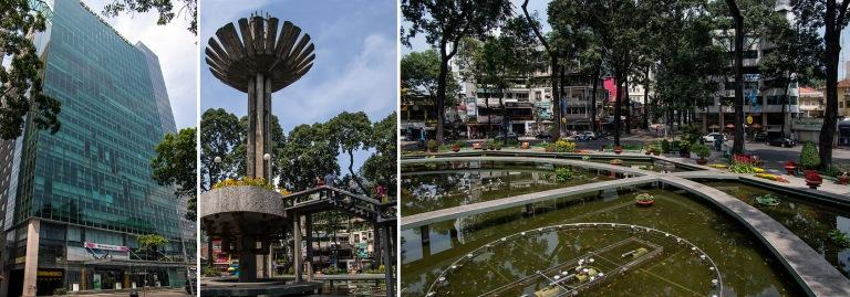 VN_160209 Vietnam_0054 Ho Chi Minhin Centec Tower+VN_160209 Vietnam_0066+0062 Ho Chi Minhin Con Rua (Kilpikonna) -järvi