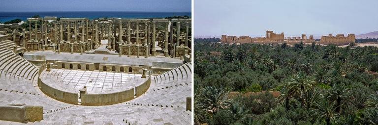 LY528609 Libya Leptis Magnan roomalaiskaupungin teatteri