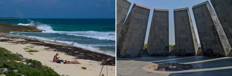 MX_150227 Meksiko_0201 Turkoosinsinistä Karibianmerta El Miradorissa Cozumelin saarella+AM_090905 213 Armenia Jerevanin kansanmurhan muistomerkin ikuinen tuli