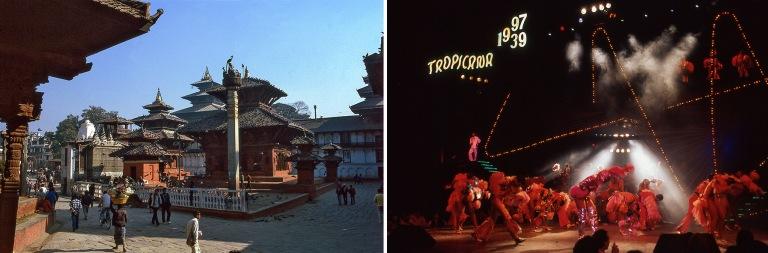 NP182802 Nepal Kathmandun Durbar Squaren temppeleitä