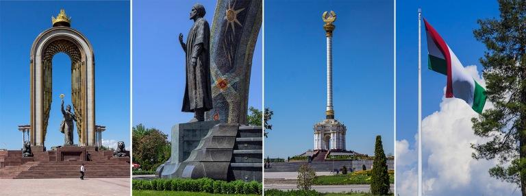 TJ_160425 Tadžikistan_0148 Ismoili Somonin muistomerkki Dušanb