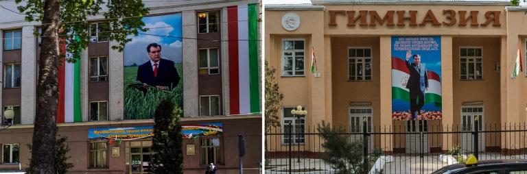 TJ_160425 Tadžikistan_0261 Presidentin kuva Dušanbessa