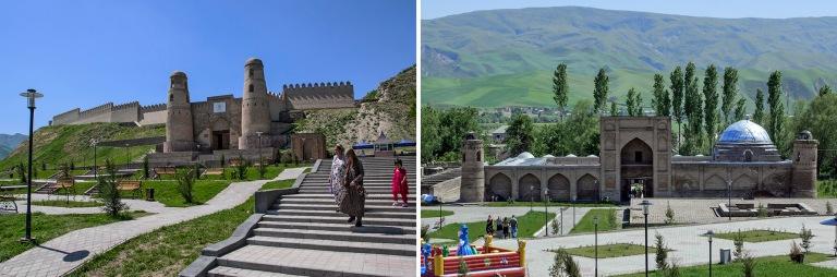 TJ_160425 Tadžikistan_0350 Gissarin linnoitus Dušanben lähellä+TJ_160425 Tadžikistan_0430 Gissarin vanhempi madrasa Dušanben lähellä