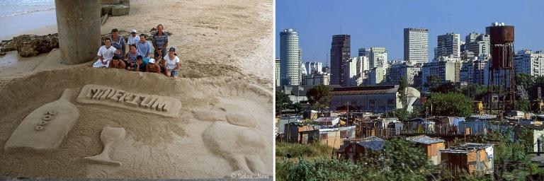 ZA383613 Etelä-Afrikka Millenium-hiekkaveistos Port Elizabethis