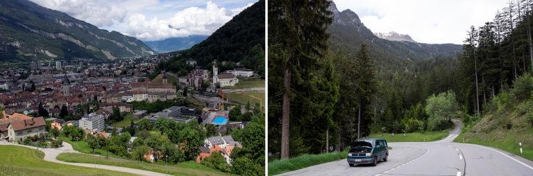CH_160602 Sveitsi_0110 Churin panoraamaa Graubündenissä
