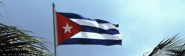 CU254302 Kuuba Maan lippu Santa Luciassa Camagüeyn provinssissa