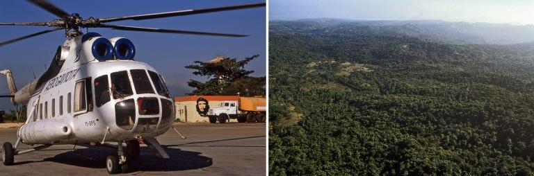 CU255016 Kuuba MI-8-helikopteri Santiago de Cuban kentällä