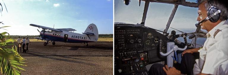 CU257301 Kuuba Aerotaxin AN-2-kaksitaso Santa Lucian kentällä