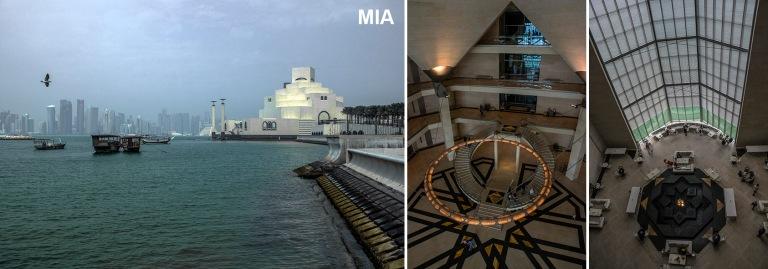 QA_170211 Qatar_0061 Dohan dhow-venesatamaa Islamilaiselle museolle takana West Bay+QA_170211 Qatar_0269 Dohan Islamilaisen taiteen museon kahvila