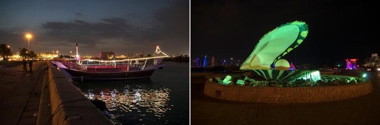 QA_170211 Qatar_0573 Dohan Corniche ja valaistu dau-vene