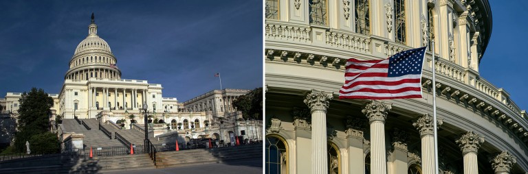 US_170620 Yhdysvallat_0325 Washingtonin Capitol+US_170620 Yhdysvallat_0330 Maan lippu Washingtonin Capitolilla