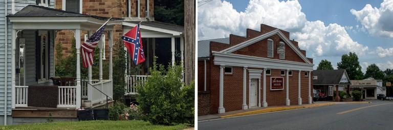US_170621 Yhdysvallat_0021 Orangen taloja lippuineen Virginiassa