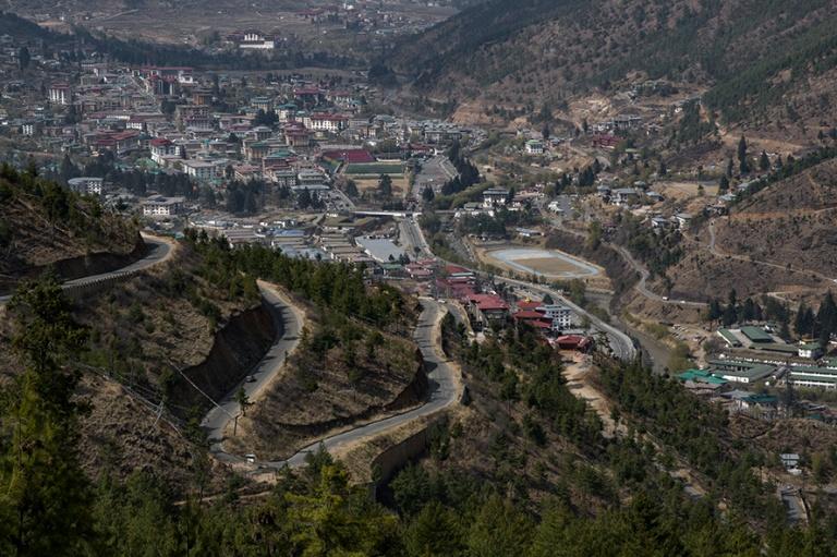 BT_180316 Bhutan_0215 Thimphun panoraamaa Kultaisen buddhan pats