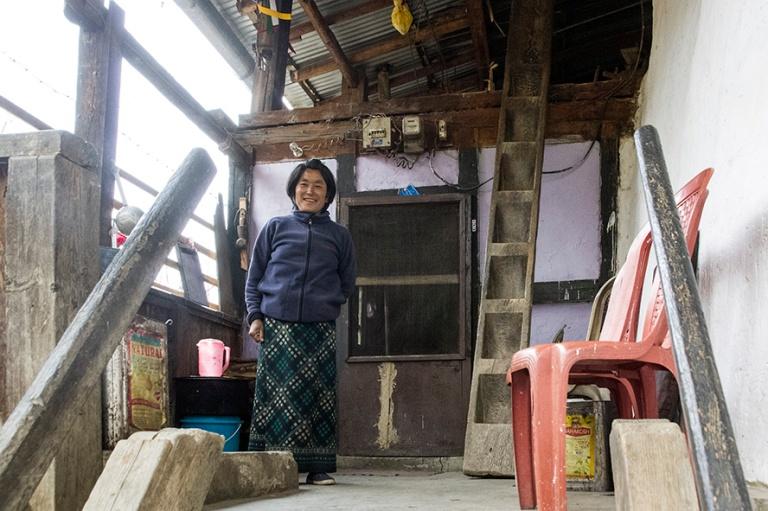 BT_180317 Bhutan_0318 Maalaiskoti Thimphun piirikunnassa