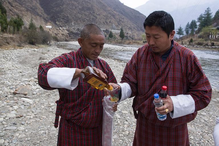 BT_180317 Bhutan_0347 Virkistystauko Paro Chu-joella