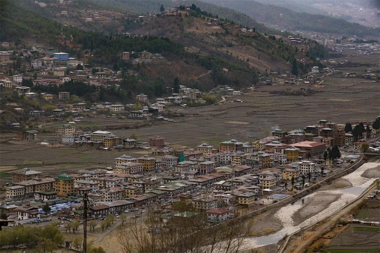 BT_180317 Bhutan_0442 Paron panoraamaa kansallismuseolta