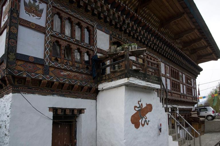 BT_180317 Bhutan_0466 Arkkitehtuuria ja designia Parossa
