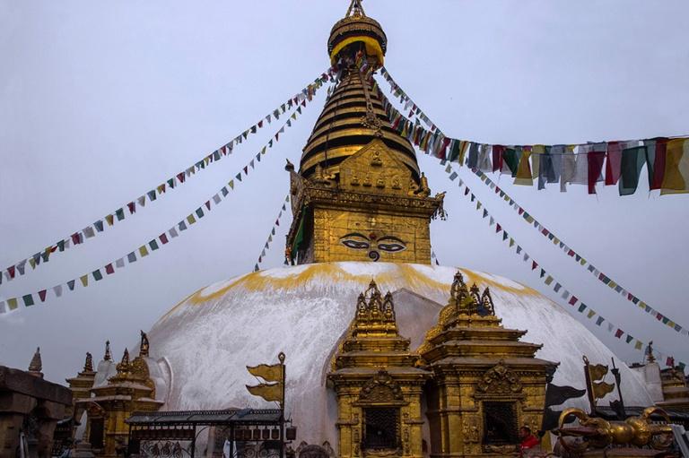 NP_180315 Nepal_0115 Swayambhunathin stupa Kathmandussa