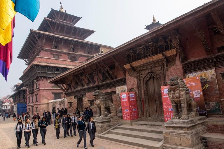 NP_180315 Nepal_0202 Patanin Durbar Squaren Taleju Temple ja Mul