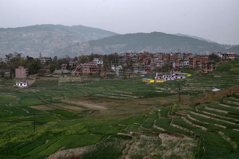 NP_180315 Nepal_0553 Riisipeltoa Kathmandun laaksossa