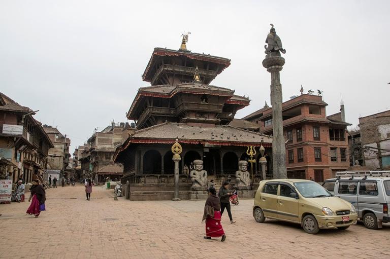 NP_180315 Nepal_0645 Bhaktapurin Dattatraya Temple Tachupal Tole