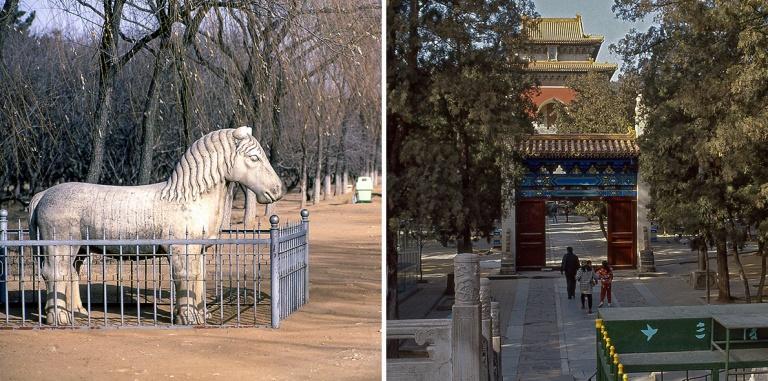 CN123731 Kiina Ming-hautojen eläinpatsaita 1992