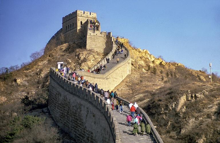 CN123915 Kiina Kiinan muuri Badalingissa 1992