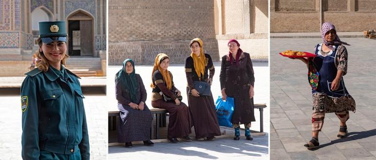 UZ_181026 Uzbekistan_0274 Naisturistipoliisi Buharan vanhassa ka