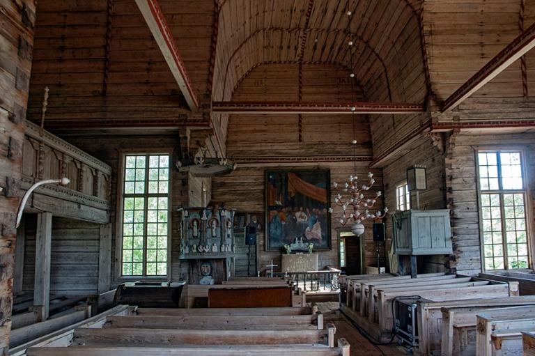 FI_180825 Suomi_0023 Petäjäveden vanha kirkko sisältä Keski-