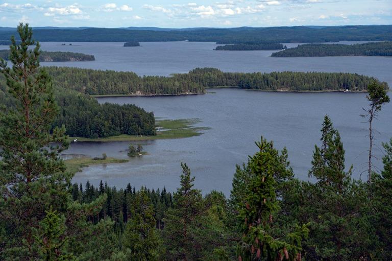 FI_180825 Suomi_0120 Keskisuomalaista järvimaisemaa Oravivuoren