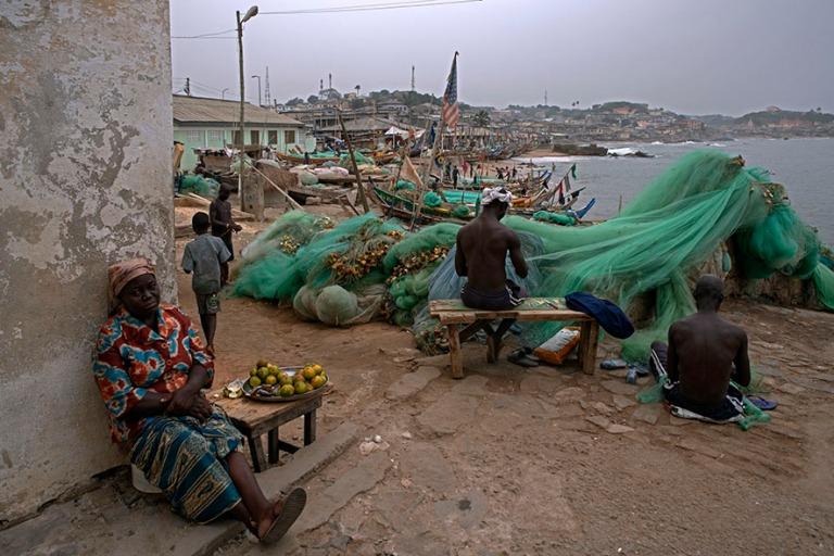 GH_190107 Ghana_0580 Elämää Cape Coastin rannalla Centralin h