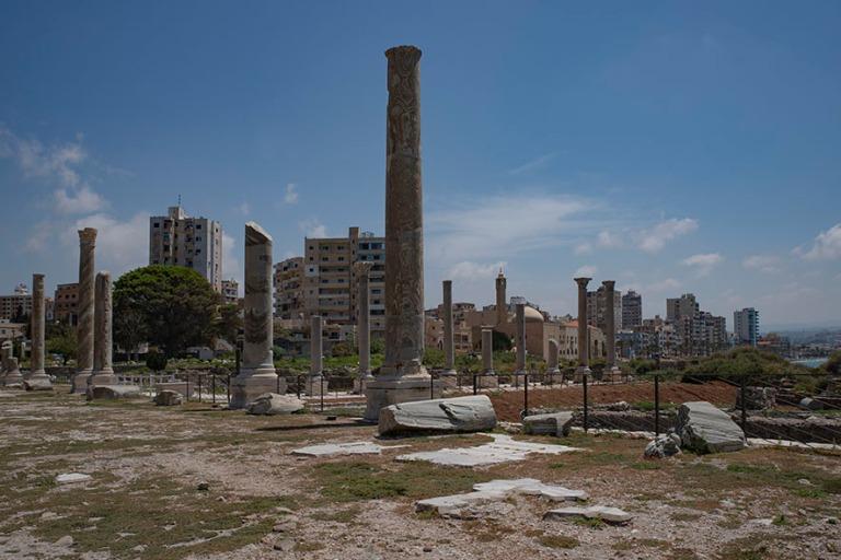LB_190504 Libanon_0235 Tyroksen kaupunkia Al-Minan arkeologiselt