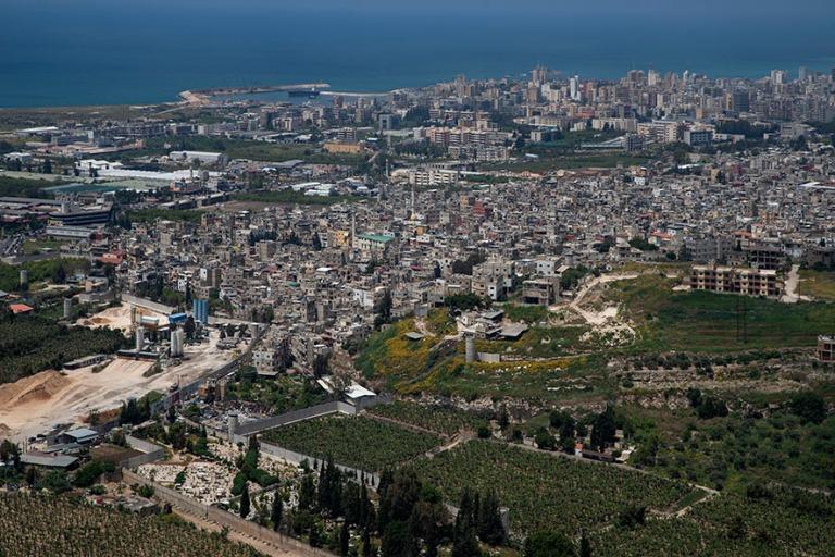 LB_190504 Libanon_0359 Sidonin panoraamaa Maghdouchen Mantaran m