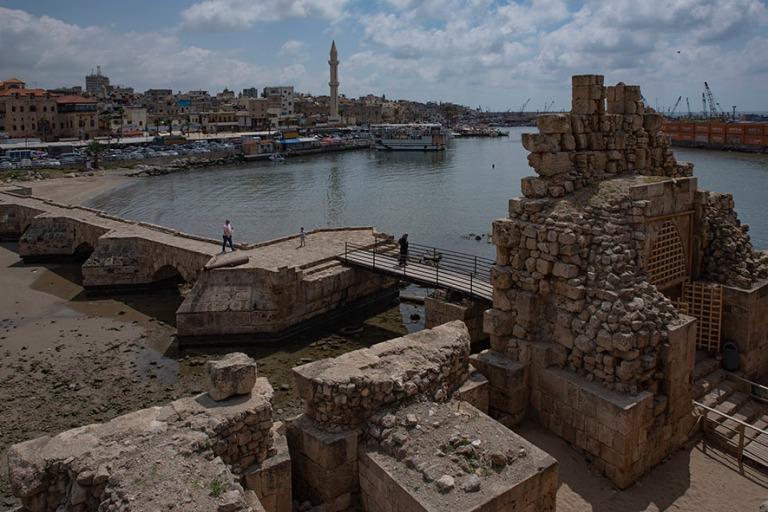 LB_190504 Libanon_0430 Sidonin vanhaa kaupunkia Merilinnoituksel