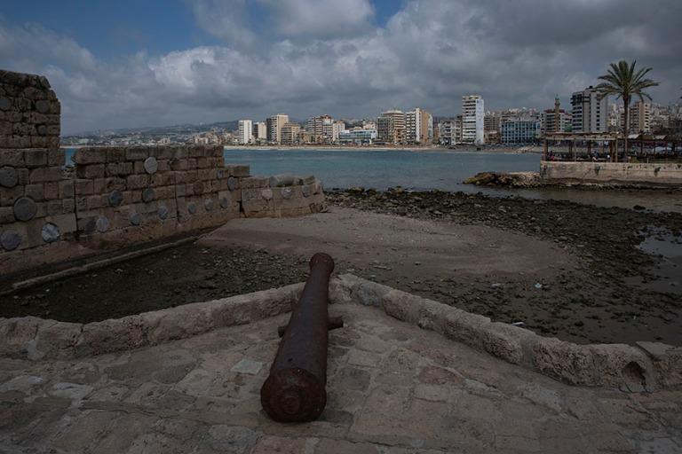 LB_190504 Libanon_0434 Sidonin kaupunkia Merilinnoitukselta