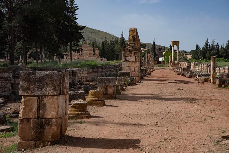LB_190506 Libanon_0052 Anjarin arkeologinen alue Bekaan laaksoss