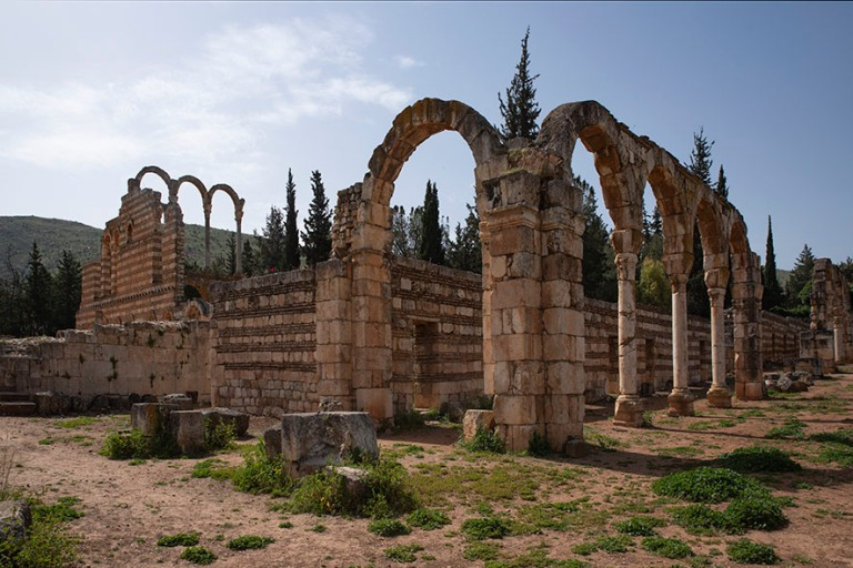 LB_190506 Libanon_0102 Anjarin arkeologinen alue Bekaan laaksoss