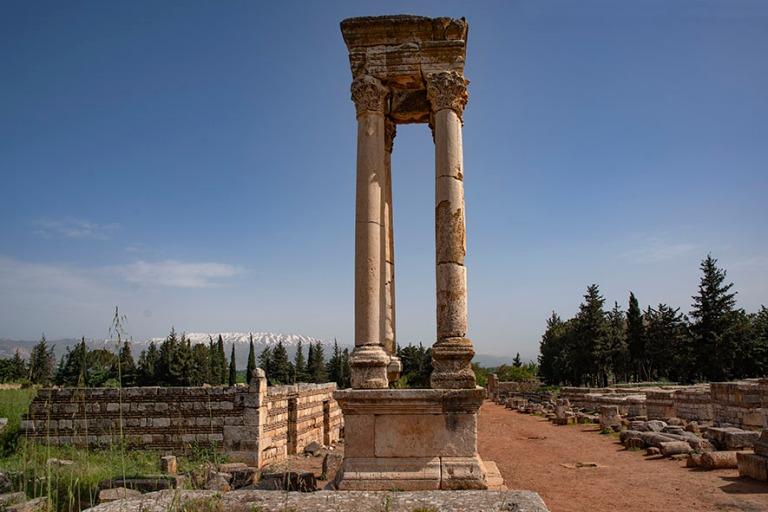 LB_190506 Libanon_0116 Anjarin arkeologinen alue Bekaan laaksoss
