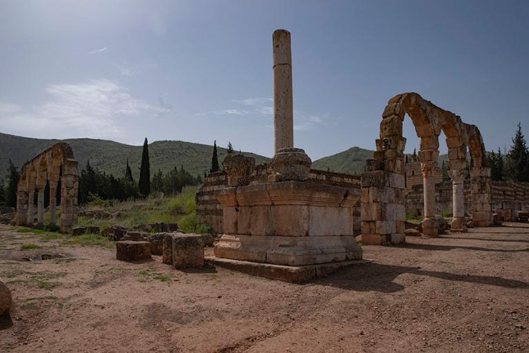 LB_190506 Libanon_0120 Anjarin arkeologinen alue Bekaan laaksoss