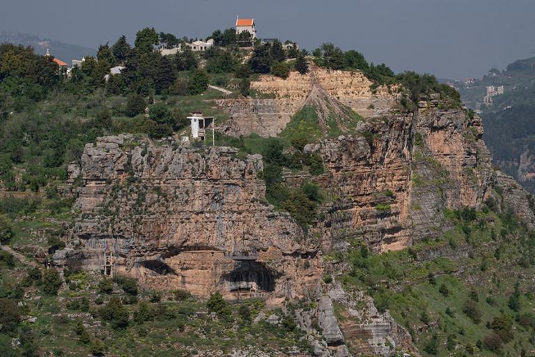 LB_190507 Libanon_0107 Luolaluostari Qadishan laaksossa Libanoni