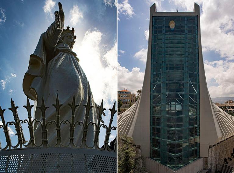 LB_190508 Libanon_0064+0049 Harissan Libanonin neitsyt ja uusi k